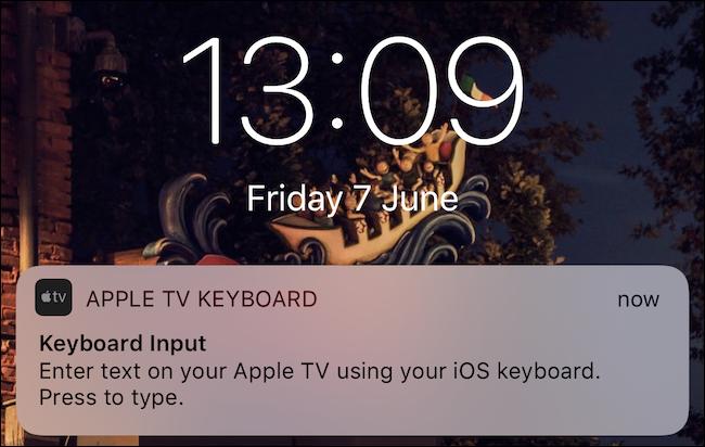 Appuyez sur la notification du clavier