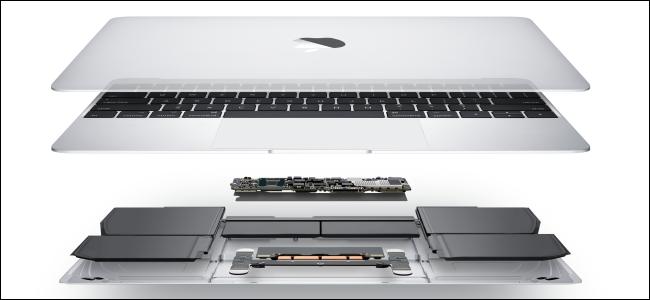 Les composants internes d'un MacBook