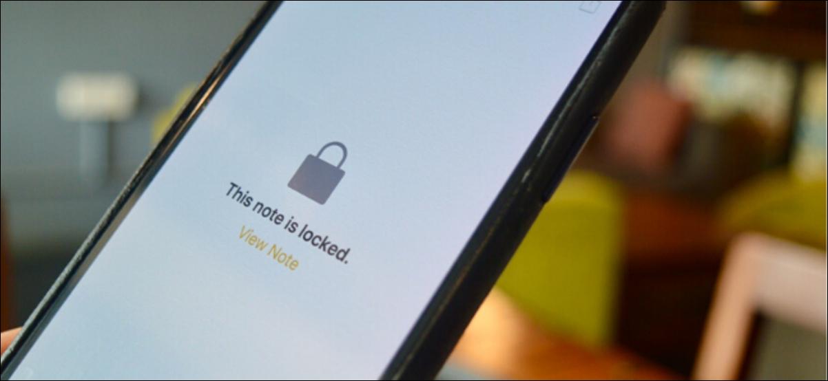 Application Notes sur iPhone indiquant que la note est verrouillée