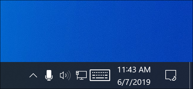Icône de microphone dans la zone de notification de Windows 10