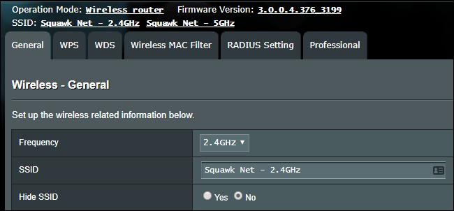 Paramètres SSID Wi-Fi sur un routeur sans fil