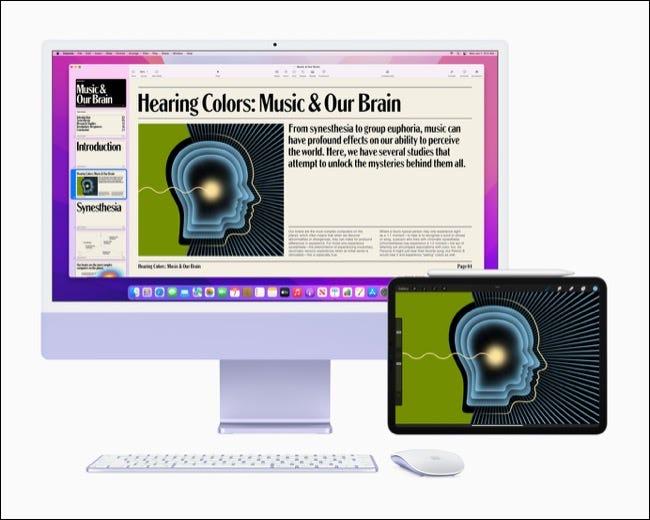 iMac exécutant macOS Monterey