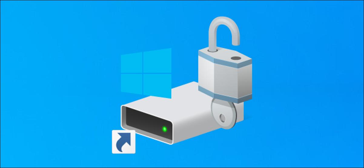 Lecteur système C: raccourci sur un bureau Windows 10