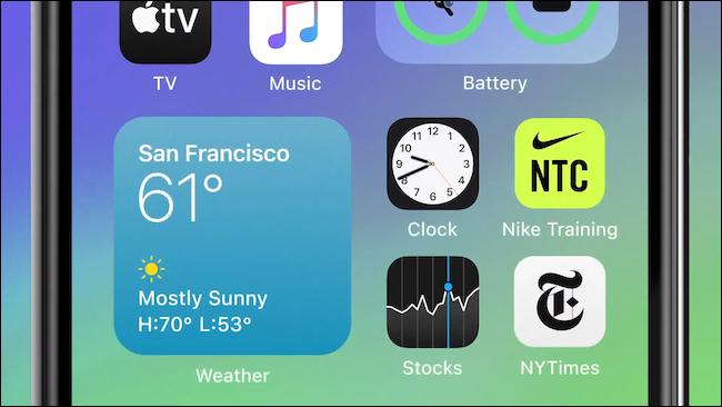 Widgets sur iOS 14