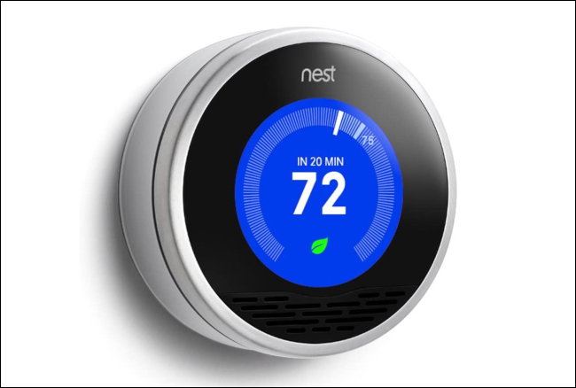 Un Nest Learning Thermostat.
