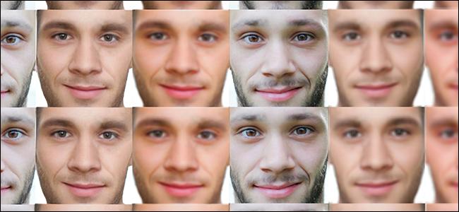 Un ensemble de données de visages masculins.