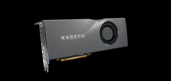 Une carte graphique AMD Radeon.