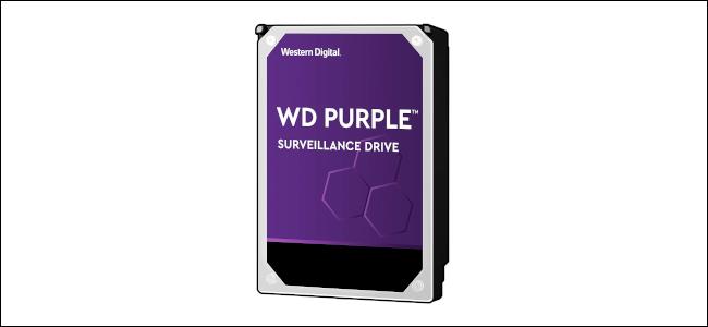Un lecteur de surveillance Western Digital Purple.