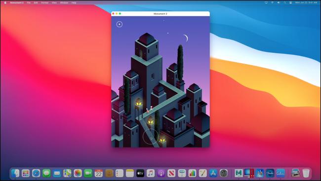 """Monument Valley 2"" s'exécutant sur macOS via Rosetta 2."