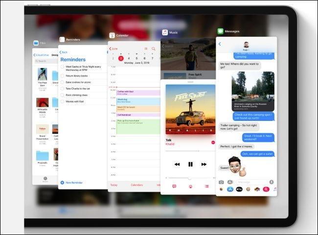 Commutateur d'applications iPadOS Slide Over